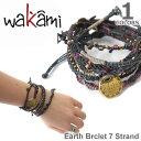 wakami/ワカミ WA0389-20 Earth Brclet 7 Strand NIGHT ユニセックス 小物 メンズ レディース ユニセックス アクセサ...