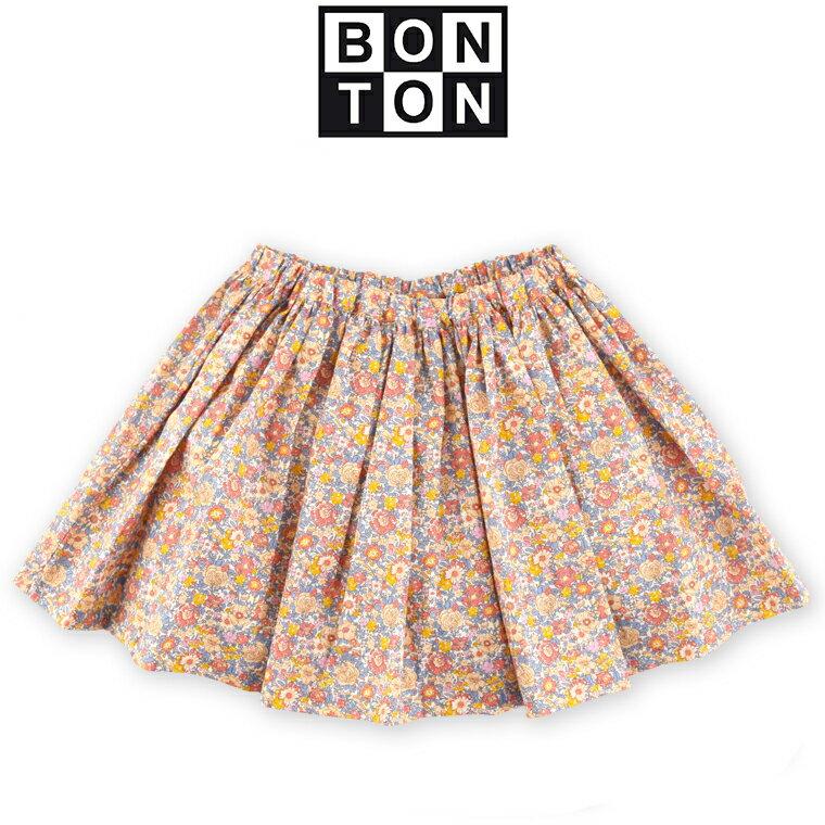 BONTONボントンキッズリバティギャザースカート8A8歳~12A12歳BONTONキッズスカートリ