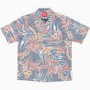 181057 南国ストレチア(開襟シャツ|裏地仕様) メンズ アロハシャツ かりゆしウェア