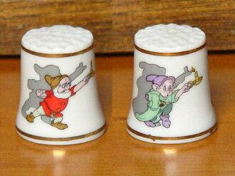 Rare Disney Disney thimble ( thimble ) ファーストディズニーコレクション snow white dwarfs