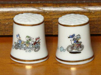 ファーストディズニーコレクション Donald Duck cycling hard to find Disney Disney thimble ( thimble )