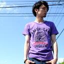 Tシャツ デザイン プリント American Indian 半袖 Tシャツ メンズ 倉敷児島発 /SS