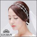 ブライダル ウェディング ヘッドドレス Bridal Wedding Hairband-2☆手作り♪ ヘアバンド ネックレス フラワー クリスタル カチューシャ...