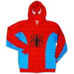 ◎【スパイダーマン SPIDERMAN】 コスチューム柄ジップアップパーカー [BPなし] spider-man・spider man・アメイジングスパイダーマン・MARVEL・マーベル・アメキャラ・アメコミ・アメリカン雑貨・アメリカ雑貨・アメ雑