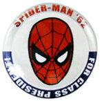 ◎【スパイダーマン SPIDERMAN】 缶バッジ Lサイズ 『プレジデント』 ピンバッジ・バッチ・spider-man・spider man・アメイジングスパイダーマン・MARVEL・マーベル・アメキャラ・アメコミ・アメリカン雑貨・アメリカ雑貨・アメ雑