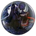 ◎【スパイダーマン SPIDERMAN】 缶バッジ Lサイズ 『ヴェノム キラー』 ピンバッジ・バッチ・spider-man・spider man・アメイジングスパイダーマン・MARVEL・マーベル・アメキャラ・アメコミ・アメリカン雑貨・アメリカ雑貨・アメ雑