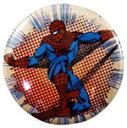 ◎【スパイダーマン SPIDERMAN】 缶バッジ Lサイズ 『ドット&ライン』 ピンバッジ・バッチ・spider-man・spider man・アメイジングスパイダーマン・MARVEL・マーベル・アメキャラ・アメコミ・アメリカン雑貨・アメリカ雑貨・アメ雑