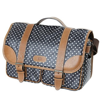 Camera bag SLR camera bag fashionably cute ☆ Mina original ☆ DSLR for women カメラショルダーバッグ / Dark Navy dot
