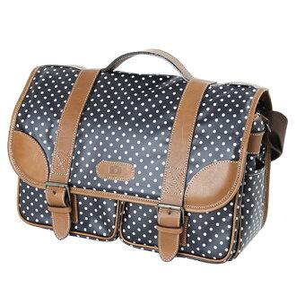 Camera bag SLR camera bag fashionably cute ☆ Mina original ☆ DSLR for women カメラショルダーバッグ / Dark Navy dot