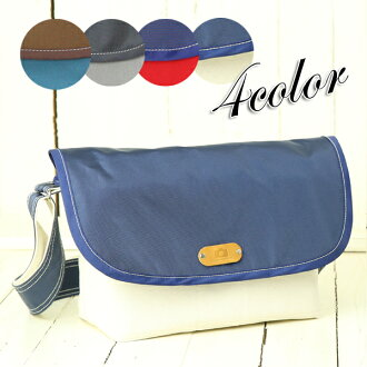 Entering the DSLR camera with two lenses / canvas x nylon multi angled shade shoulder camera bag / М size / Navy x kinari