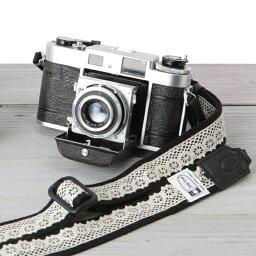 カメラストラップ mi-na ミーナ / レースブラック/長さ調節タイプ