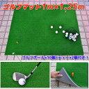 ゴルフ練習マット 【特大 1.25m×1m】ゴルフボール&ティー付 ショットマット