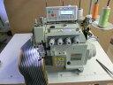 【中古】2本針上下差動送り機構付き自動糸きり装置つき ダイレクトサーボモーター付き LEDライト付き・4本糸オーバーロックミシン。 モデルNO-SSM-EXT-5214-MO3-333-4型頭部のみ JIAM