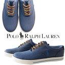 POLO RALPH LAUREN ポロ ラルフローレン スニーカー 靴 VAUGHN メンズ 男性 ネイビー 紺 散歩 通学 おでかけ アウトドア ワンポイント ポニー 馬 刺繍 おしゃれ 人気 ブランド