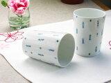 清爽的点可爱的自由茶杯?日本和西洋不问可以使用的波浪佐见烧��赠品,礼物【白山陶器】拨奏玻璃杯 水珠[【白山陶器】ピチカート コップ 水玉]