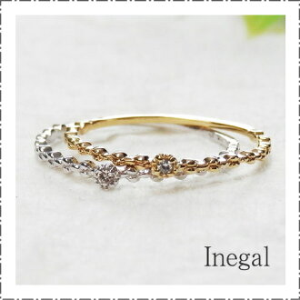 10 K YG 0.01 克拉鑽石戒指金黃色黃金鑽石鑽石 10 黃金四月誕生石禮品包裝免費女士飾品簡單疊加在白色粉色 K10WG K10PG
