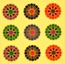 和柄(1)【着物柄(お正月・成人式・着物)ネイルシール】5色MIX/1シート9枚入