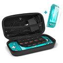 ProCase [液晶保護フィルム付] Nintendo Switch Lite 保護ケース ハードEVAトラベルケース 収納カバー ゲームカードホルダー(10枚収納..