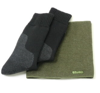 25-27 Cm warm socks (black)-size and neck warmer set-sock socks ネックウオーマー Gift gift
