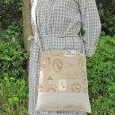 ななめがけバッグ(アリス)【ハンドメイドバッグ】【帆布】【バッグ】【リネン】【A4】【ショルダーバッグ】【手作り】【ハンドメイド】【帆布バッグ】【手作りバッグ】【ななめがけ】【肩掛け】【あす楽対応】