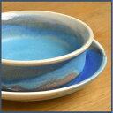 益子焼 陶器 グラタン皿付 受け皿付き(トルコ・ブルー釉) [和食器 青 オーブン レンジ 電子レンジ 食洗機]【02P01Oct16】