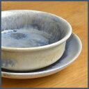 <030-I>益子焼 陶器 グラタン皿 受け皿付き(インディゴ・ブルー釉) [和食器 青 オーブン レンジ 電子レンジ 食洗機]【02P01Oct16】