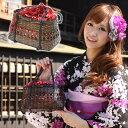"""Nadeshiko"" Kozakura DrawString watermark bamboo basket bags * store ladies accessory brand goods"