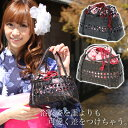 Ray July posting ★ 'pink' floral DrawString watermark bamboo basket bag * shopping ladies brand sundries