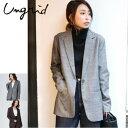 Ungrid(アングリッド)グレンチェックジャケット(111750170101)2017Winter新作 ジャケット レディース カジュアル 送料無料 代引手数料無料
