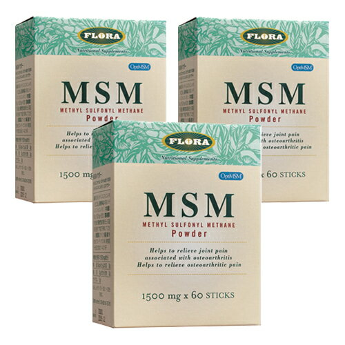MSMパウダー 1500mg×60包×3箱セット( FLORAフローラ )(送料無料)(クーポン利用可)
