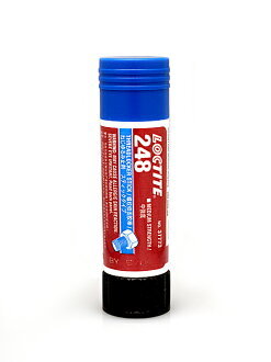 "Loctite 248 ""medium strength"" screw loosening materials [stick], [go]"