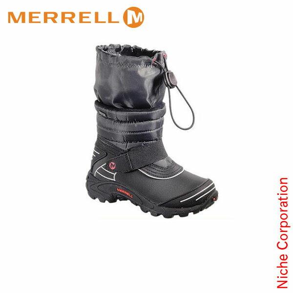 メレルモアブ アークティック ウォータープルーフ キッズ BLACK/RED[MFW-95493Y]《子供用》 [ MERRELL メレル シューズ トレッキング モック 防水 ブーツ 登山靴 Kid's][nocu][dis-out][あす楽]