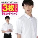 男子半袖 学生カッターシャツ 白 | 形態安定 抗菌 防臭 セット 学生服 スクールシャツ ワイシャ