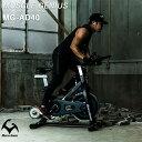 エアロバイク フィットネスバイク エアロフィットネス 静音 ブラック ダイエット器具 マット付き Muscle Genius マッスルジーニアス スピンバイク MG-SB01