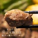 【送料無料】黄金そだち 三元豚太郎 塩ダレ豚ハラミ