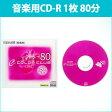 [3500円以上で送料無料][宅配便配送] CDRA80C.PK1P 日立 マクセル 音楽用CD-R 80分 1枚10mmプラケース ディスクデザインが光るルミナスレーベル maxell