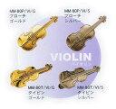 ミニチュアブローチ&タイピン:バイオリン