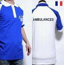 フランス アンビュランス ラグラン ポロシャツ 【DM便