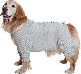 日本製オーガニックコットン ガーゼ肌着《草木染・背中リボン》【大型犬用ウェア】 純オーガニックコットン100%二重ガーゼ生地で作られたお洋服