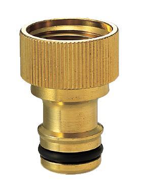 楽天イーグルス感謝祭期間中パパサラダ全品ポイント5倍ワンタッチニップル(ブラス)|ガーデニングの水栓