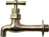 702-011-13 【水栓】レトロ胴長横水栓Newタイプ |ガーデニング用単水栓、庭用の壁出水栓【05P03Dec16】