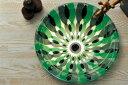 【送料無料】【AQUA】フラワー(Mサイズ)|花柄模様のガラス手洗鉢。ガラスの洗面ボール【05P03Dec16】