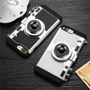 iPhone 8/8 plusケース iPhone 7/7 plusケース iPhone6 6s Plus iPhone5 5s SE保護ケース iPhoneカバー 2in1 ソフト シリコン + PC iPhone ケース ランヤード ストラップ付き 3D iPhoneケース カバー 背面保護ケース カメラ デザイン おしゃれ かわいい