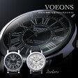 【送料無料】VOEONS 腕時計 クラシカル フェイス 腕時計 クロノ ビッグバン スポーティ メンズ 黒 スポーティ カジュアル フォーマル