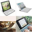 ipad4/iPad3/iPad2 用 ipadair1/2 用選択可能 ワイヤレス Bluetooth キーボード 薄型☆2サイズ全2色選択