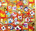 ★現品限りです(廃番になりました) Q- キャラクター キルティング 生地 妖怪ウォッチ ( オレンジ ) 柄番号8( キルト キルティング生..