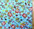 <Qキャラクター・キルティング生地>妖怪ウォッチ(ブルー)#17【キルティング】【キルト】【キャラクター】【キルティング生地】【布】【入園】【入学】