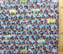 <Qキャラクター・キルティング生地>ミッキーマウス(ブルー)#50・ディズニー