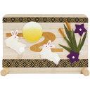 「桐衝立飾り お月見」手作りちりめん細工 秋の風物詩 置物 人形 和みの和雑貨