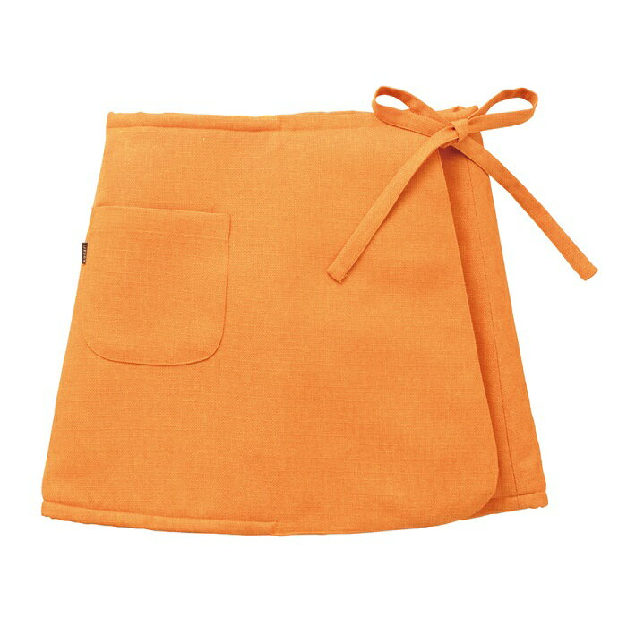 ソフゥール ウエストウォーマー L〜4L【ウール 巻きスカート 無地 暖かい シャンブレークロス オレンジ ふわふわ もこもこ 毛布 国産 日本製 羊毛 送料無料】